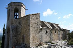 Bild: romanische Kirche in Oppéde-le-Vieux, Provence