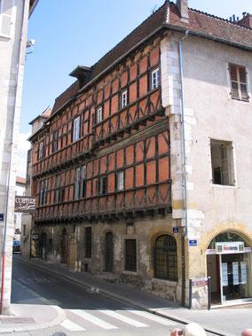 Bild: Fachwerkhaus Maison Gourrevod in Bourg-en-Bresse