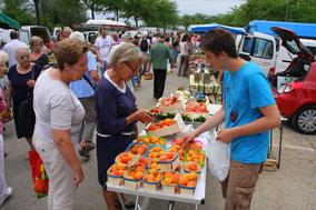 Bild: Markt in Velleron (Le marché agricole de Velleron)
