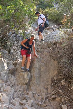 Bild: Abstieg zur Calanque d´en Vau