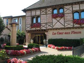 Bild: Der Garten des Restaurant Georges Blanc in Vonnas