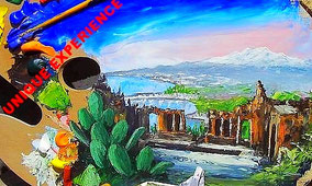 Paint and Wine in Taormina: Sip Wine and Paint Etna