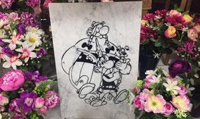 asterix-obelix-idefix-gravure-marbre-magfasin-orange-marbrerie-funeraire-orangeoise