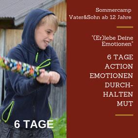 Urlaub Vater Sohn Wochenende Tirol Kitzbühel Action Durchhalten Emotionen Kampf Vater Sohn Männers Natur Mut Vertrauen Überwindung Spannung Wasser Steine Spaß