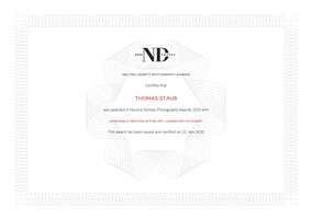 Auszeichnung Honorable Mention ND Awards 2020