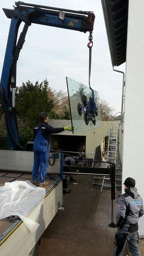 Edelstahl Glas Vordach Montage