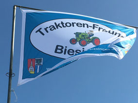 Flagge der Biesinger Traktoren-Freunde