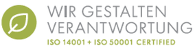 ISO14001 + ISO50001 CERTIFIED