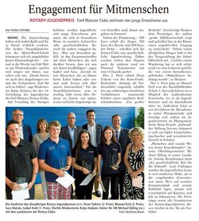 AZ Mainz vom 8.7.2015 (zum Vergrößern klicken)