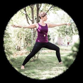 Position: Krieger; MANYO Yoga Gleisdorf
