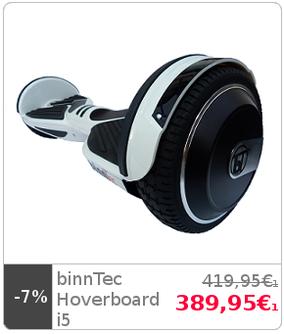 binnTec i5 i 5 Patent Hoverboard Balancing Scooter Elektroroller kaufen weiß