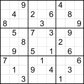 Sudoku © Rätselbüro Martin Simon