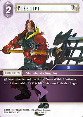 """Dragoons sucht man vergeblich als Unterstützer, doch der Pikenier (in XIV die """"Vorstufe"""" zum Dragoon) darf auch mal von der hinteren Reihe unterstützen"""