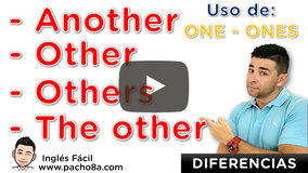 Diferencia entre Another, Other, Others, The Other, The Others, One y Ones