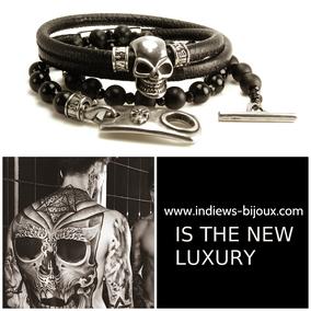 bracelet tete de mort,bracelet skull,bracelet tatoo,bracelet perle,bracelet homme,bracelet multitours,bracelet argent,bracelet python, bracelet createur