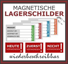 Magnetische Lagerschilder