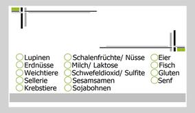Kennzeichnung von Allergenen
