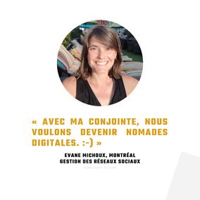 Témoignage Evane Michoux travailleuse autonome Québec pour Académie des Autonomes