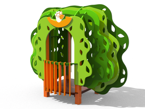 casetta Baobab, giochi per parco, giochi per parchi, attrezzature per parchi gioco, strutture ludiche Stileurbano Ciuffo Baobab certificati Norma EN1176 CATAS stileurbano oratorio FOM odielle abbiategrasso