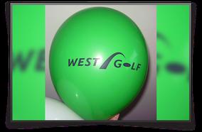 Ballon mit Aufdruck, Westgolf