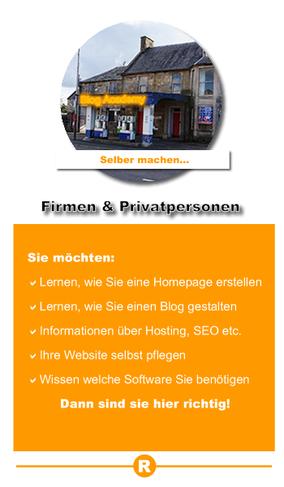Webseiten und Blogs für Firmen und Privatpersonen. Hier lernen Sie selbst eine Homepage zu gestalten.