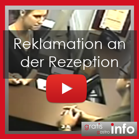 Reklamation an der Rezeption