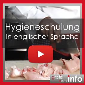 Hygieneschulung in enlischer Sprache