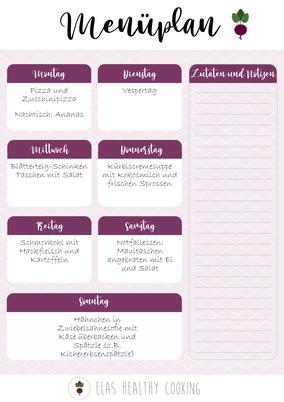 Wochenplan Teil 4