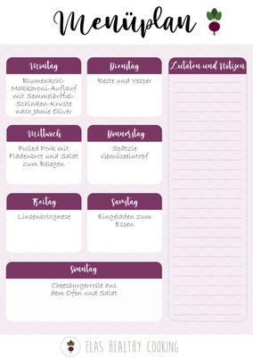 Wochenplan Teil 1