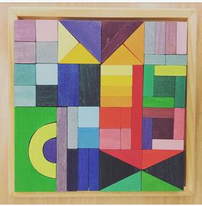 Mosaik Puzzle aus Holz