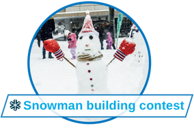 Fun events with snowman building contest