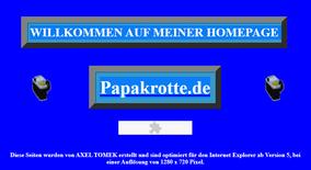 Homepage Axel Tomek