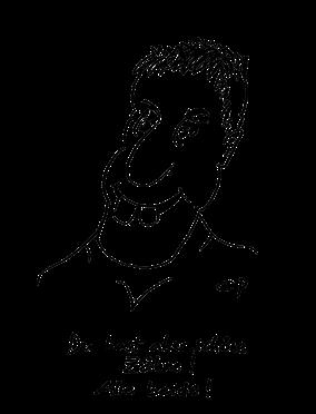 """Comicfigur mit 2 großen Schneidezähnen aus dem Buch """"Mit den eigenen Zähnen ins Gras beißen"""" von Beatrice Achard"""