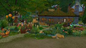 Sims 4 Lots Fantasy, Medieval, Historical, Castaway and more