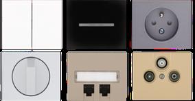 bouton enjoliveur interrupteur prise design blanc noir aluminium graphite titane or