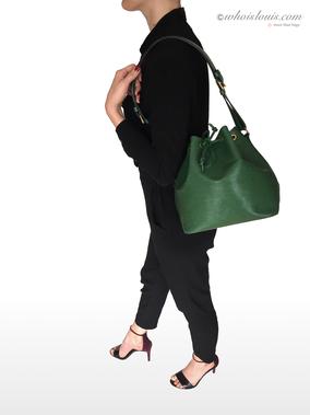 Secondhand Louis Vuitton Petit Noe Borneo Grün Epi Leder - geprüft Original
