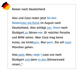 德文列出錯誤