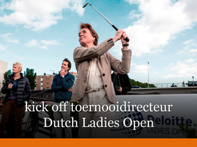 Interview toernooidirecteur Liz Weima tijdens Dutch Ladies Open
