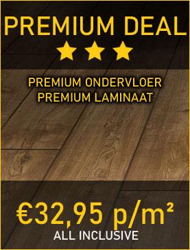 Premium Deal - Laminaat inclusief premium laminaat, premium ondervloer, premium plinten en veel meer