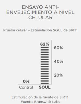 Ensayo antienvejecimiento a nivel celular. Fuente: Brunswick Labs