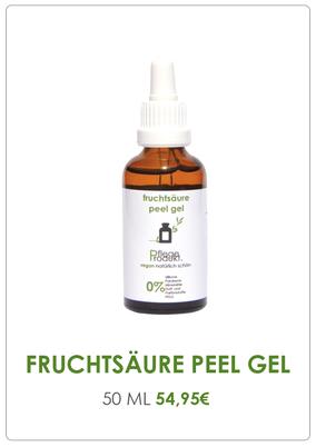 Pflegeprodukt Fruchtsäure Peel Gel