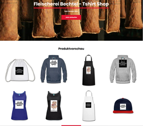 Tshirt Shop der Fleischerei Bechtel