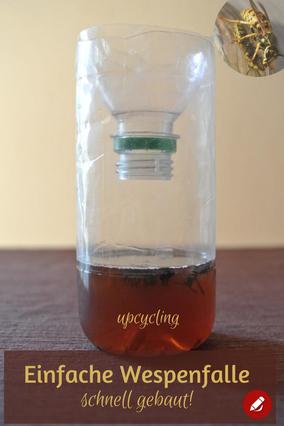 Wespenfalle selbst bauen #upcycling #wespen #orgaBine