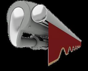 markilux 1710 steingraumetallic rot mit Volant