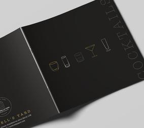 Graphic design, menus, leaflets, brochures, posters