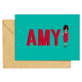 ICONS ICONESAMY WINEHOUSE ILLUSTRATION CARTE / CREATION ORIGINALE © Stephanie Gerlier / T FOR TIGER