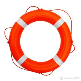 Rettungsring Orange-Weiß