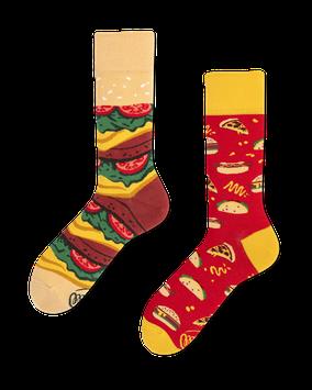 MANY MORNINGS Unisex Socken Fast Food