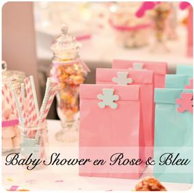 baby shower fête prénatale rose bleu pink blue fille garçon ours body
