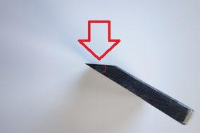 台屋の鰹節削り器,刃先の角度
